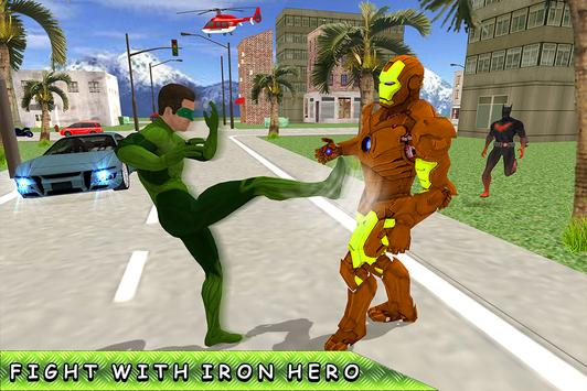 Green Ring Hero Crime Battle screenshot 8