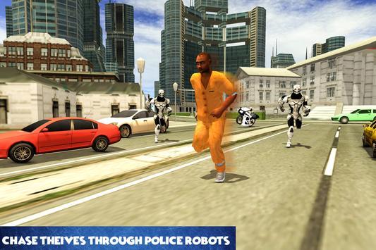 Police Robot Bike Chase poster