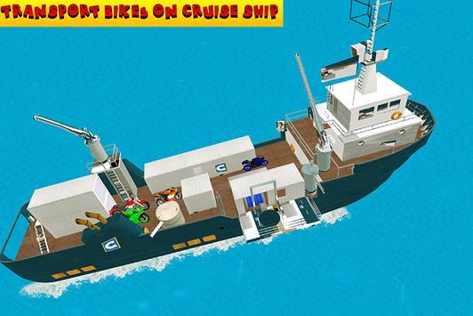 Impossible Bike Ship Transport apk screenshot