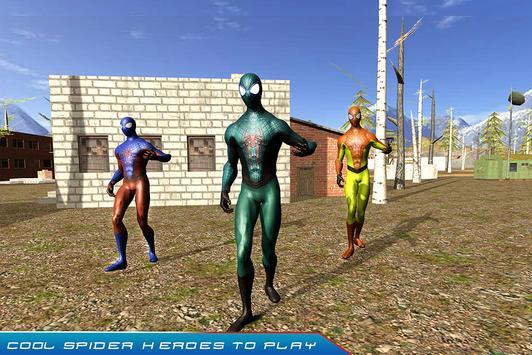 SuperHero Spider in Army apk screenshot