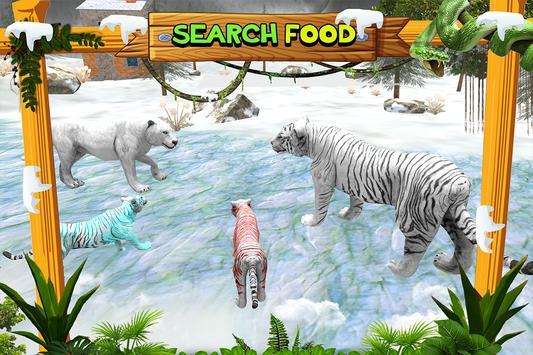 White Wild Tiger Family Survival 3D screenshot 5