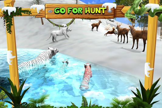 White Wild Tiger Family Survival 3D screenshot 6