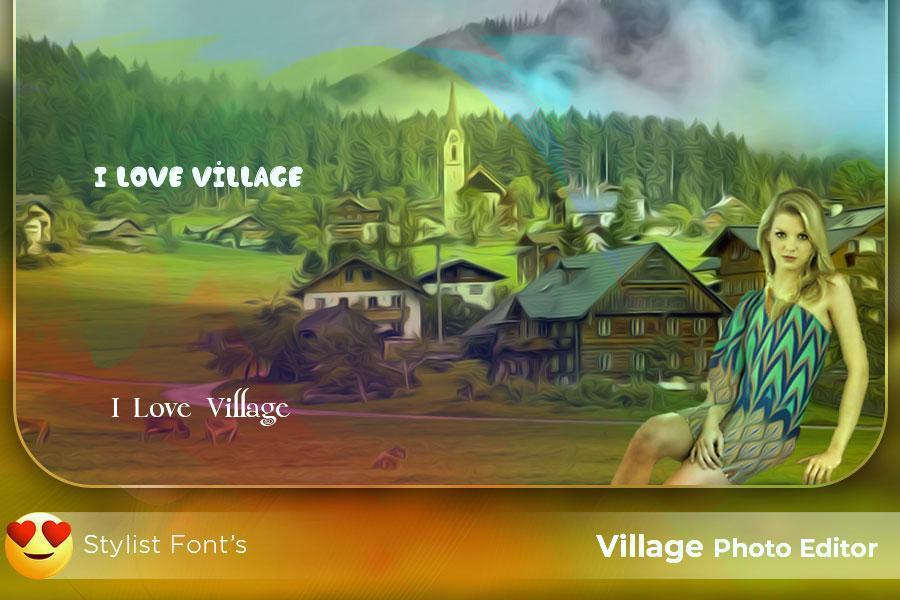 Village Photo Frame New HD : Village Photo Editor for