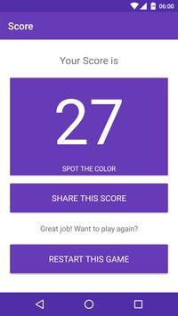 Spot the color: Find odd color | Eye Test apk screenshot