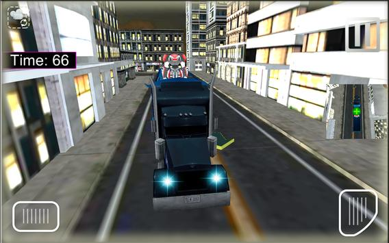 X Robot Transport Big Truck screenshot 2