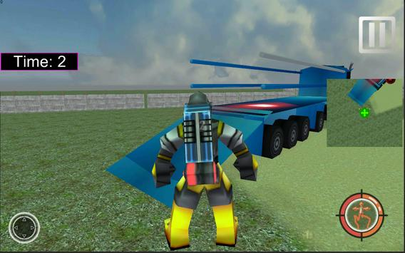 X Robot Transport Big Truck screenshot 5