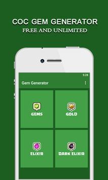 COC Gem Generator: Free Tips poster
