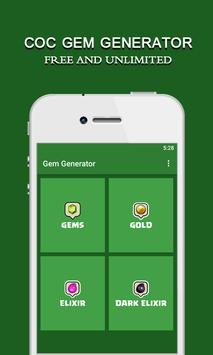 COC Gem Generator: Free Tips apk screenshot