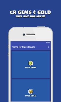 Gems Cheats For Clash Royale poster