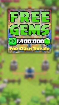 Gems for Clash Royale Prank poster