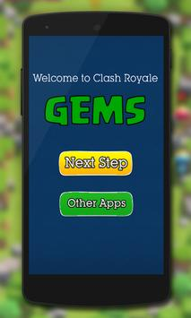 Gems for Clash Royale Prank apk screenshot