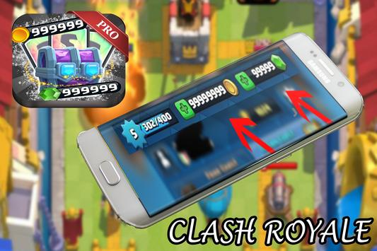 Free Gems Clash Royale - PRANK apk screenshot