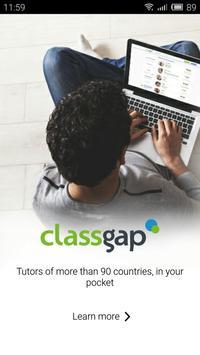 Classgap: Online tutors poster