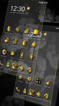 Classic Black Gold Butterfly Theme screenshot 1