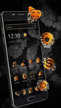 Classic Black Gold Butterfly Theme screenshot 2