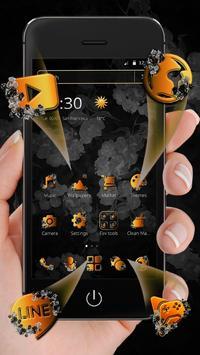 Classic Black Gold Butterfly Theme screenshot 7