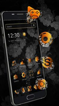 Classic Black Gold Butterfly Theme screenshot 9