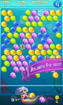Shoot Bubble Atlantis Pop poster