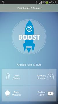 Boost my android:Clean booster poster