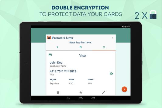 Safety Password Saver apk screenshot