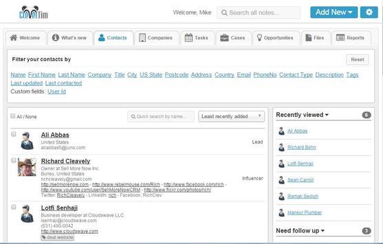 Clevertim CRM screenshot 1
