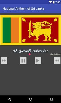 National Anthem of Sri Lanka poster