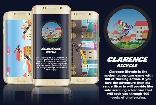 Clarence Bicycle Cartoon Game poster