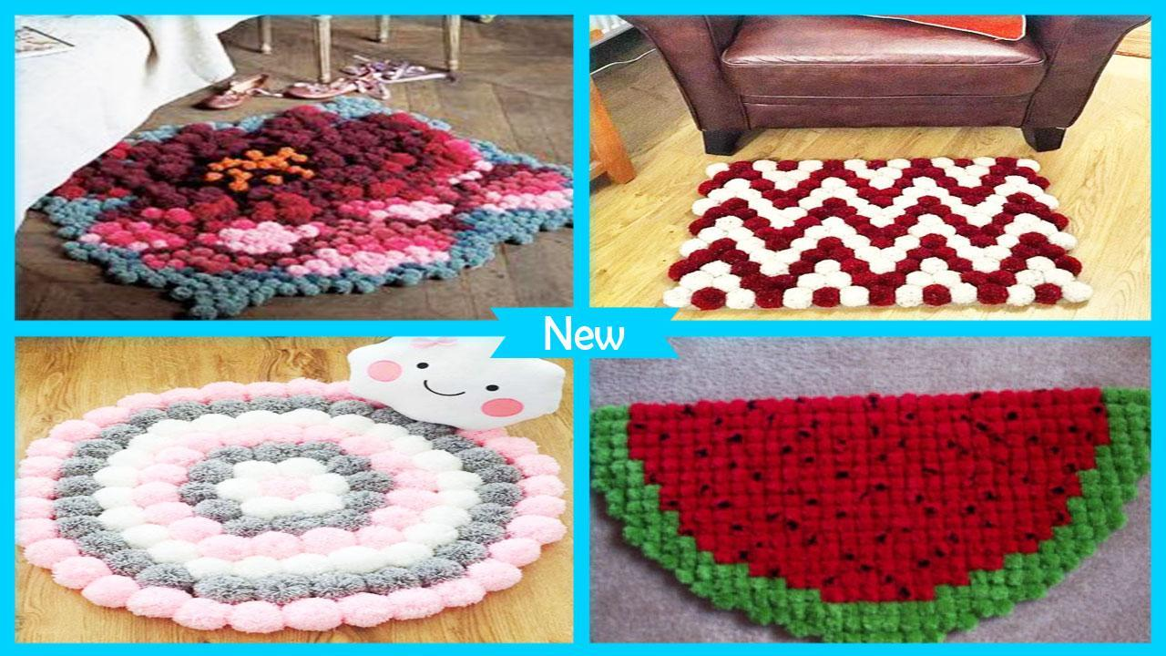 Cute Diy Yarn Pom Rug For Android