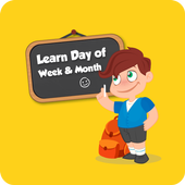 Learn days of week and months icon