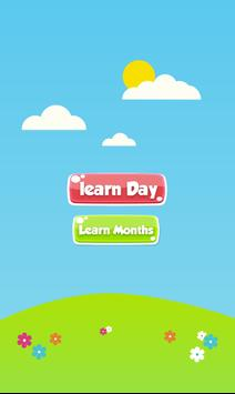 Learn days of week and months poster