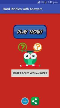 Hard riddles with answers apk download free entertainment app for hard riddles with answers poster publicscrutiny Images