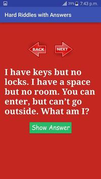 Hard riddles with answers apk download free entertainment app for hard riddles with answers apk screenshot publicscrutiny Images