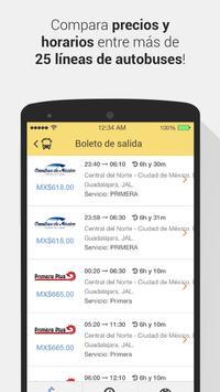 ClickBus - Boletos de Autobús apk screenshot