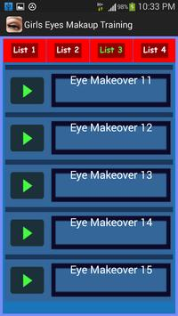 Girls Eyes Makeup Training screenshot 1