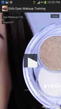 Girls Eyes Makeup Training screenshot 3