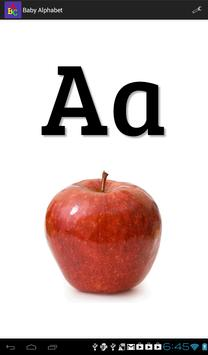 Baby Alphabet ABC Flashcard poster
