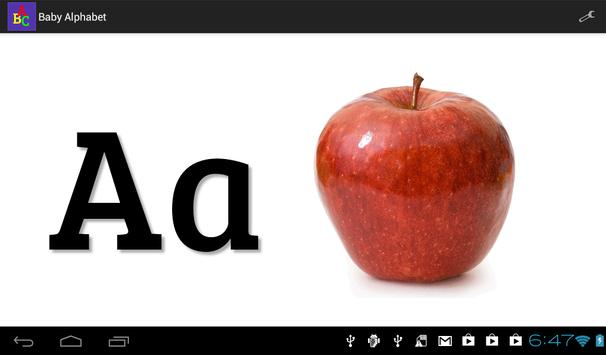 Baby Alphabet ABC Flashcard screenshot 2