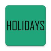 Indian Holidays 2018 icon
