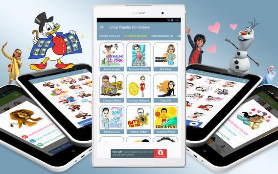 Emoji Popular HD Stickers for all Messengers apk screenshot