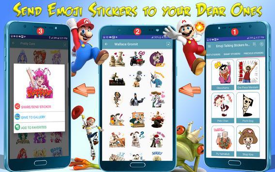 Emoji Funny HD Talking Stickers for all Messengers screenshot 11