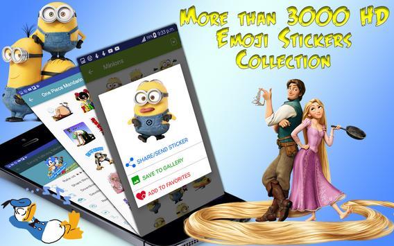 Emoji Funny HD Talking Stickers for all Messengers screenshot 1