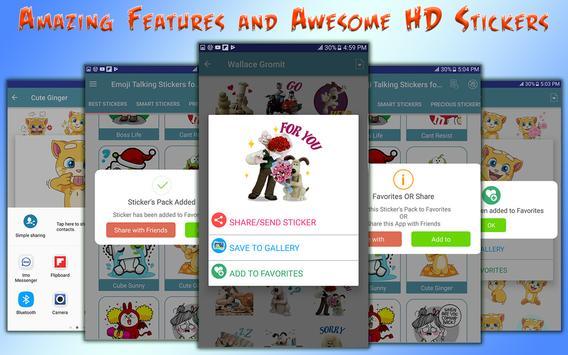Emoji Funny HD Talking Stickers for all Messengers screenshot 4
