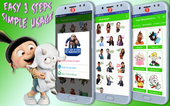 Emoji Awesome Talking Stickers for all Messengers screenshot 1