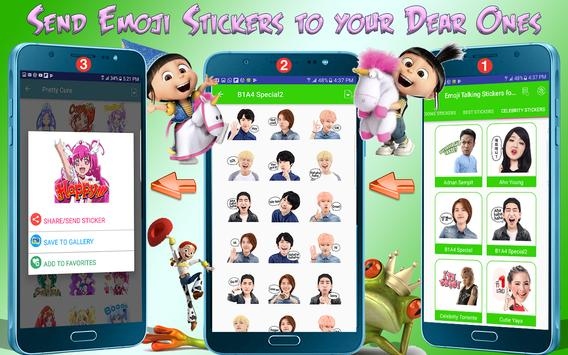 Emoji Awesome Talking Stickers for all Messengers screenshot 6