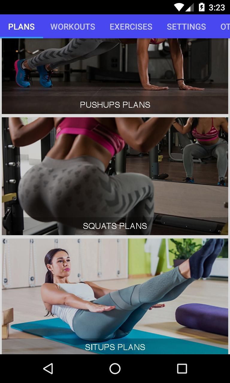 3D Home Workout(pushups,squats,situps,pullups) for Android