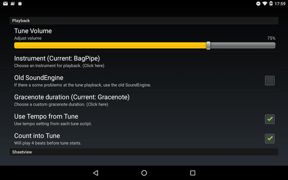 Bagpipe Musicsheet screenshot 3