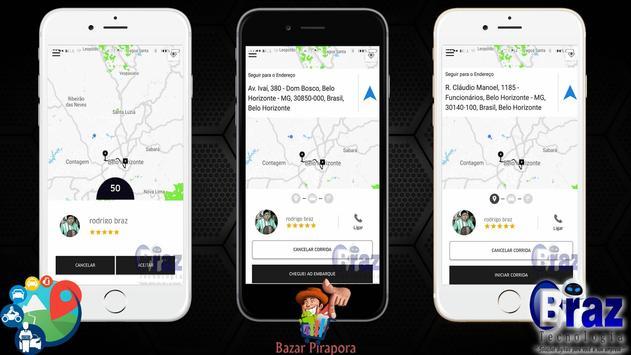 CloneUber Motorista - Demo I9vando screenshot 2
