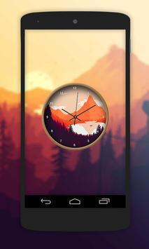 Nature Paint Clock Live Wallpaper poster