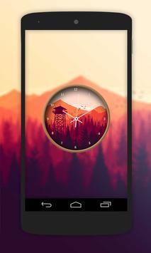 Nature Paint Clock Live Wallpaper screenshot 1