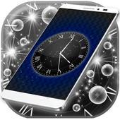 Black Live Clock Wallpaper icon
